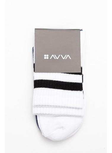 Avva 2'li Çorap Beyaz